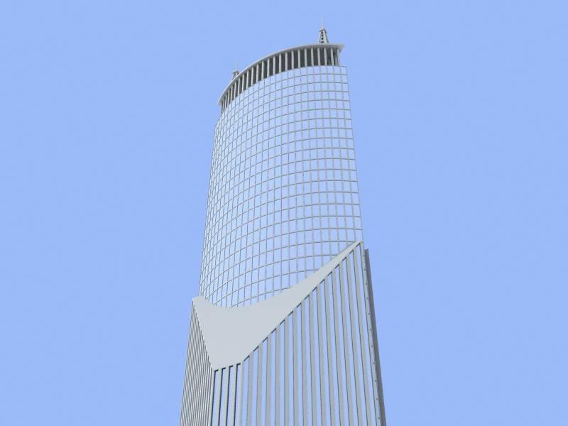 shanghai skyscraper 1 building 3d max