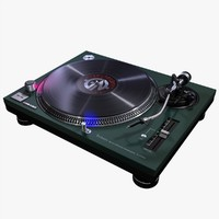turntable recordplayer 3d model
