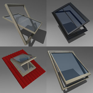 3d windows roof model