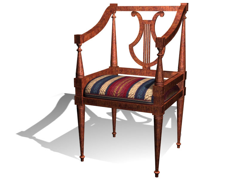 fauteuil sofa 3d model