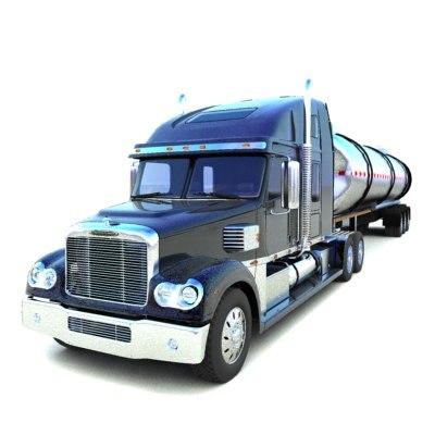 freightliner coronado cistern 3d max