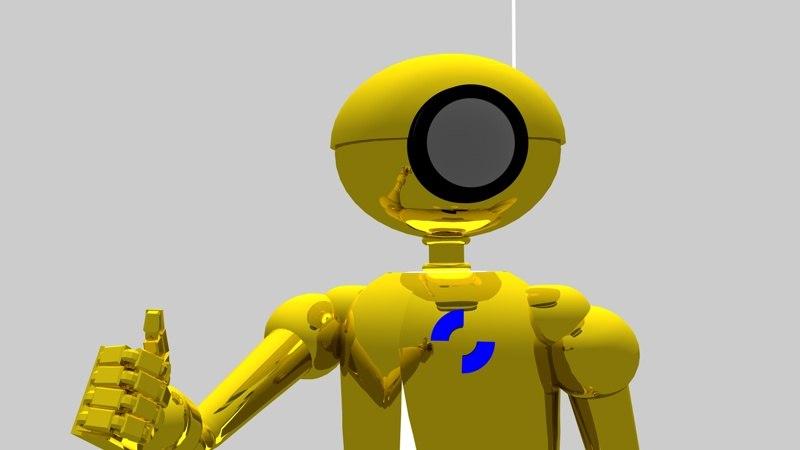 3d robot robotor mechanic model