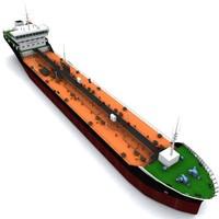 ocean oil tanker 3d model