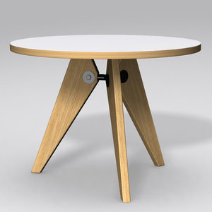 3ds max gueridon table - jean