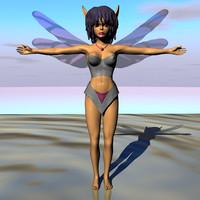 sweet fairy 3d model