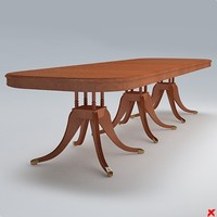3dsmax table dining