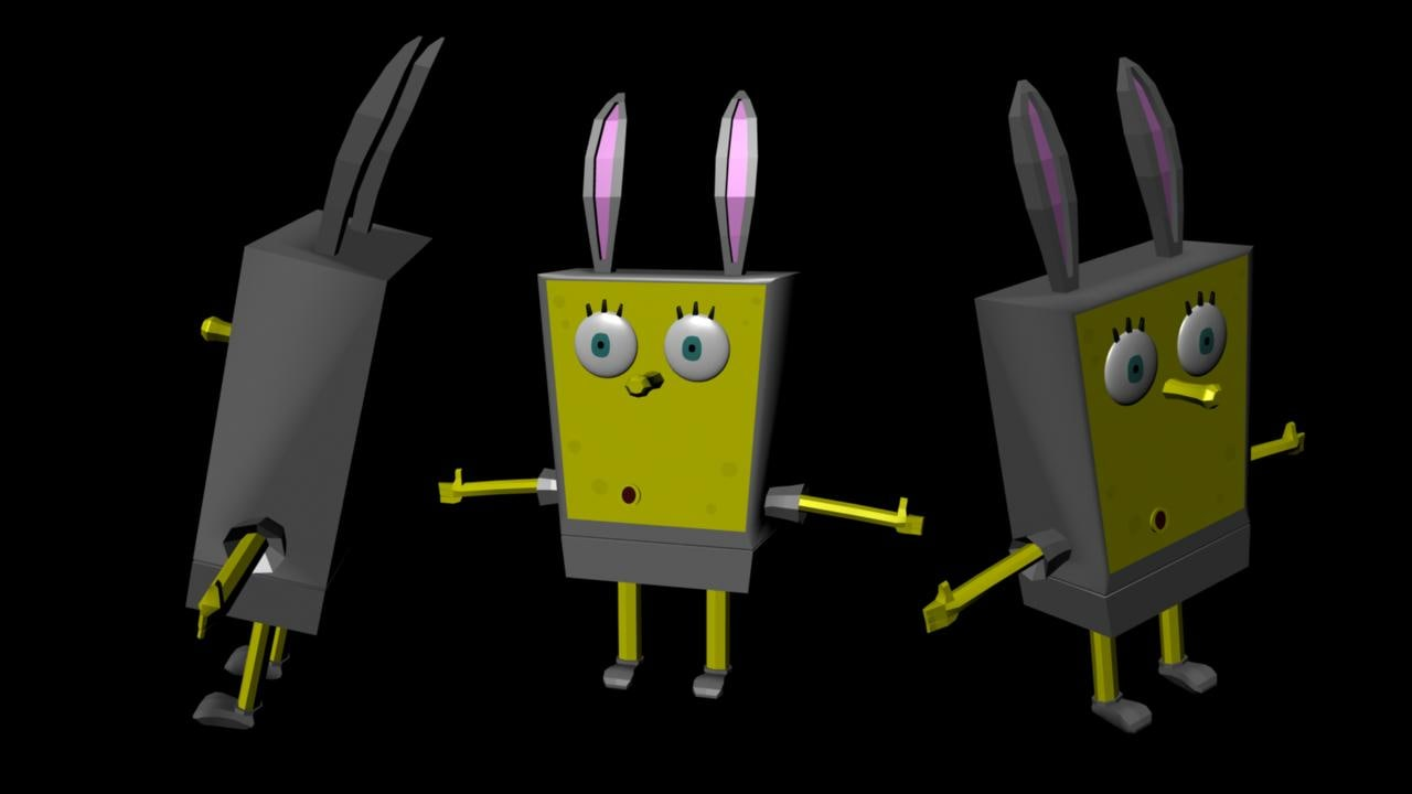 sponge bob 3d model