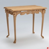 3d model table hall