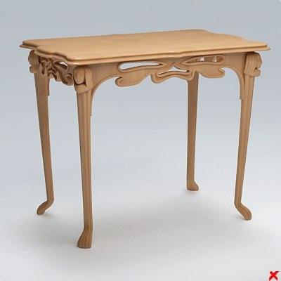 3d model table hall