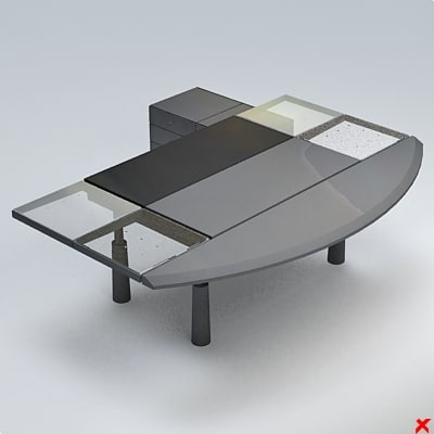 office table 3d dxf