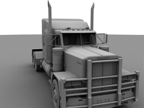 free truck 3d model