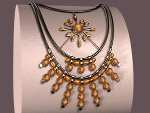 3d model crinis necklace