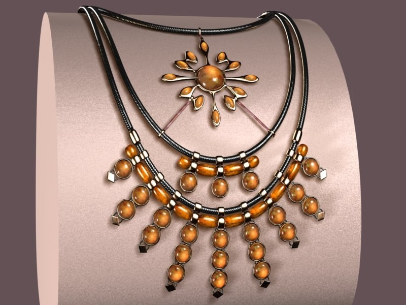 3d model crinis necklace
