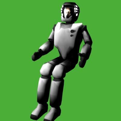 3d model spacesuit pilote