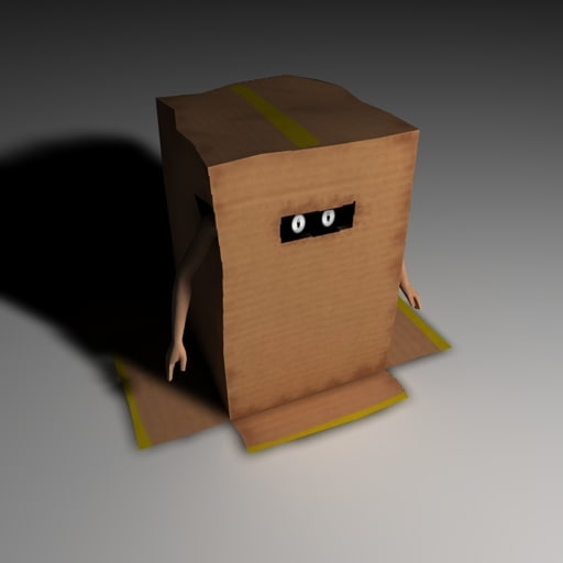 3d funny creature box model