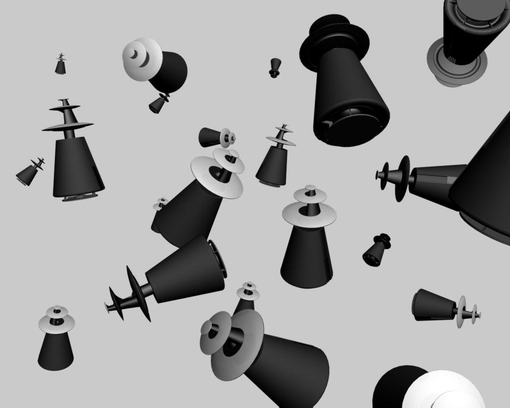 loudspeaker beolab 5 3d model