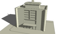 town building obj