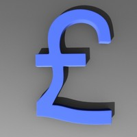pound symbol 3d model