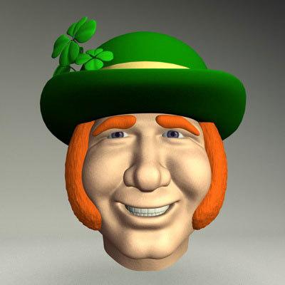 3d model st patrick leprechaun