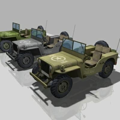 ww2 vehicle jeep willis 3d model