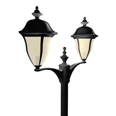 maya post lamp light