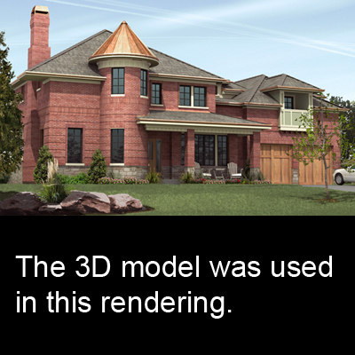 3d realistic family 0006 building structure