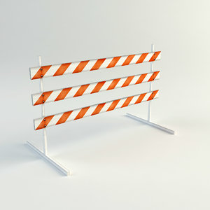 3d traffic barrier model