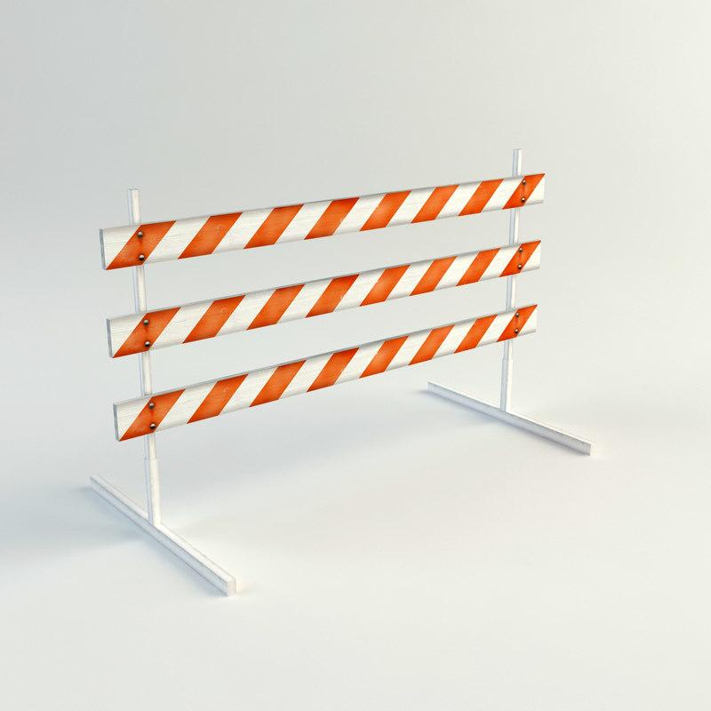 3d traffic barrier model