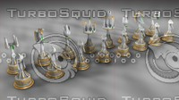 elvish chess set 3d model