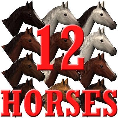 3d horse 12