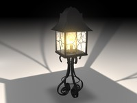 Outdoor Iron Lamp