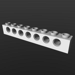lego brick 3d obj