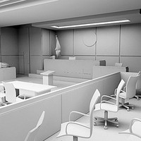 courtroom room 3d max