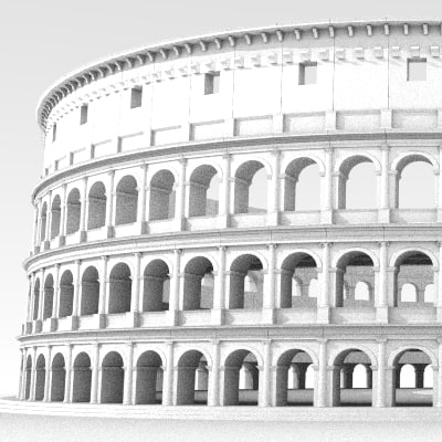 3d rome colosseum model