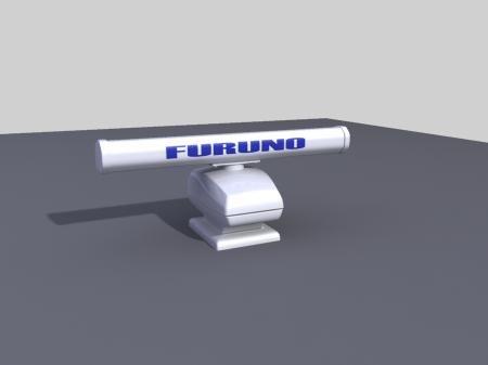 radar furuno 3d model