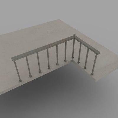 3dsmax railing balustrade