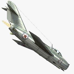 3d mig-15 cockpit pilot model