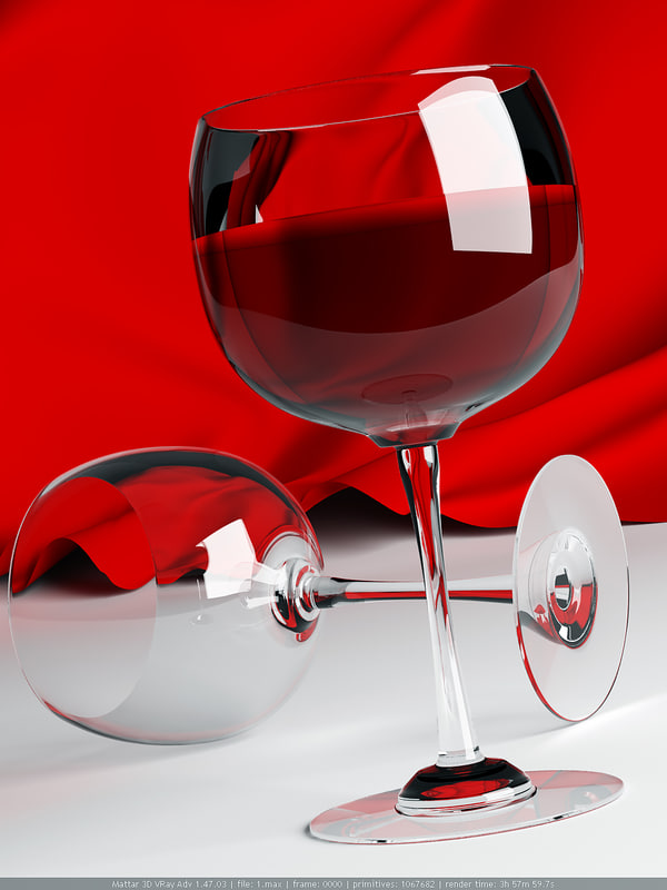 wine scene posters 3d model