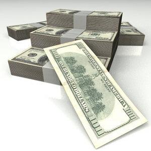 3ds max dollar bills 100