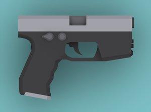 3d handgun
