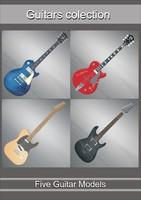 guitars colection 3d model