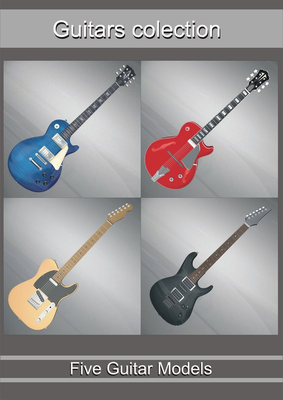 guitars colection 3d model