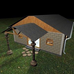 town house 3d c4d