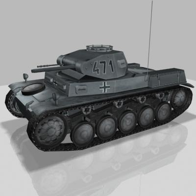 german tank panzer 3d max