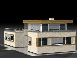 villa bungalow 3d c4d