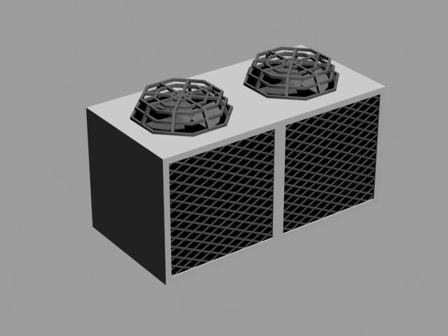 3d model air condition radiator