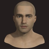 male head textured