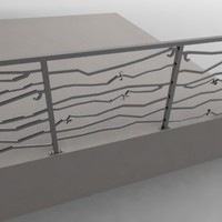 3ds max railing barrier