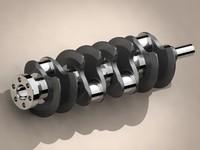 v8 crankshaft crank 3d model
