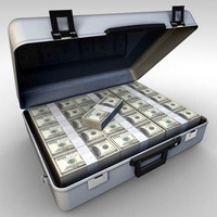 briefcase dollar obj